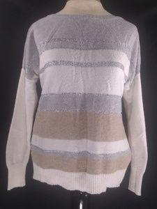Liz claiborne light colored sweater